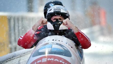 Justin Kripps, Bryan Barnett, Canadian bobsledders, win bronze in two-man