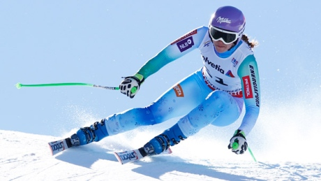 Tina Maze races to downhill gold at world championships
