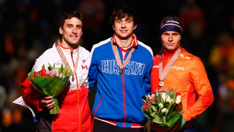 Canadian Morrison wins 2 medals at speed skating worlds