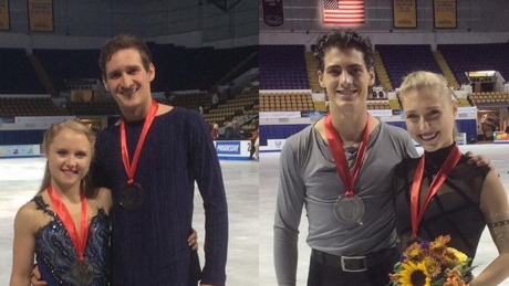 Canadians take double bronze at Skate America