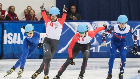 Speed skaters Hamelin, Cournoyer win gold at Toronto ISU event