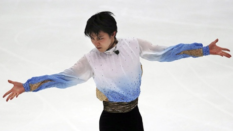 Yuzuru Hanyu sets short program record at NHK Trophy