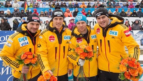 Germany sweeps 4-man bobsleigh at Altenberg