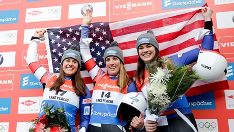 U.S. sweeps women's World Cup luge race