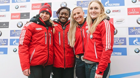 Canadian bobsleigh star Humphries wants 4-woman event in place for next season