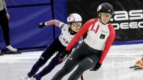 St-Gelais shines with 3 medals at short track World Cup