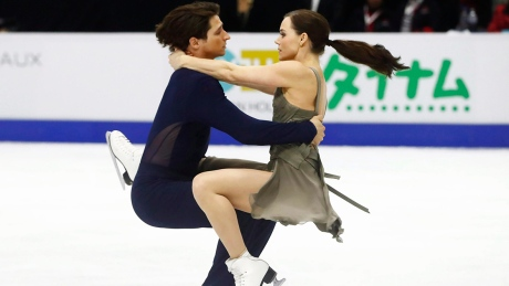 Virtue, Moir take gold with world-record result at NHK Trophy