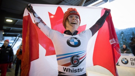 Canada's Elisabeth Vathje wins skeleton gold in Whistler
