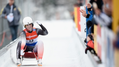 Canada's Alex Gough reaches World Cup podium for 3rd time this season