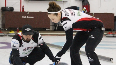 Canada wins opener at world mixed doubles curling championship