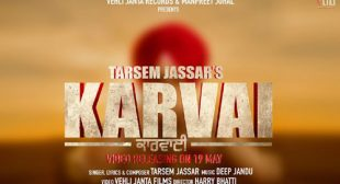Tarsem Jassar Song Karvai is Out Now