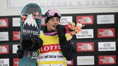 Snowboarding star Mark McMorris back on the slopes after serious accident