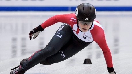 Kim Boutin wins silver at short track World Cup opener