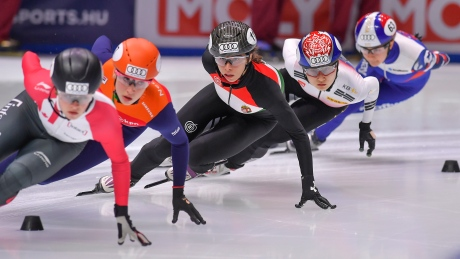 Canada nearly perfect in short track qualifying