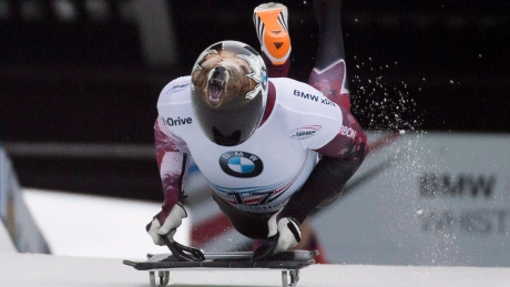 Dave Greszczyszyn falls out of podium position in men's skeleton