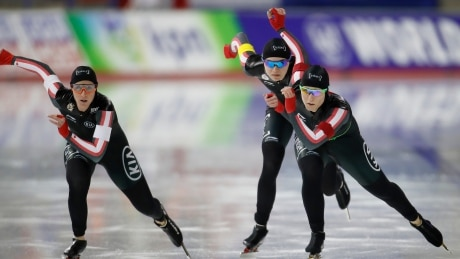 Canadian women take team pursuit bronze at speed skating World Cup