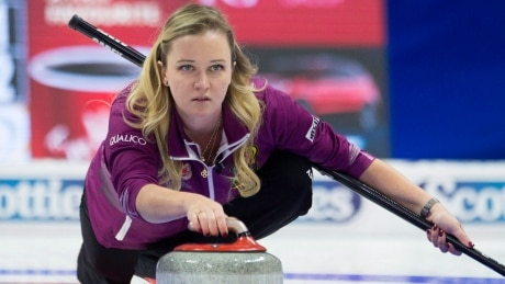 Chelsea Carey gets emotional curling win days after death of her grandfather