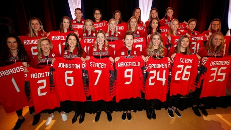 Canada unveils 23-woman Olympic hockey roster