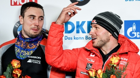 Kripps cruises to bobsleigh gold in Germany on his birthday