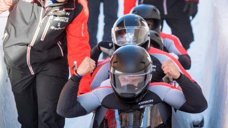 Christopher Spring takes 4-man bobsleigh bronze