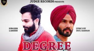 Degree Lyrics – Lakshh | Deol Harman