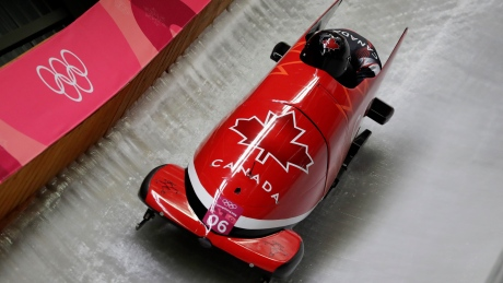 Canada's Kripps, Kopacz in podium position at midway point of 2-man bobsleigh