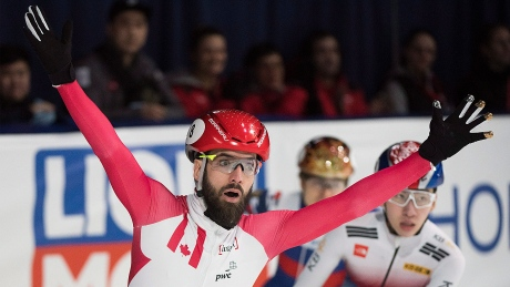 Charles Hamelin off to golden start at short track worlds