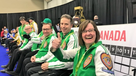 Marie Wright leads Saskatchewan to wheelchair curling national title