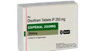 Buy Esperal 250mg Online, dosage, price, Disulfiram