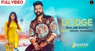 DODGE LYRICS by GULAB SIDHU | iLyricsHub