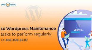10 WordPress Maintenance tasks to Perform Regularly – wewpyou.com
